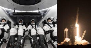 SpaceX ने 4 अंतरिक्ष यात्रियों को भेजा अंतरराष्ट्रीय अंतरिक्ष स्टेशन