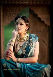 Jewelry With Banarasi Saree