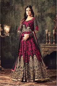 Salwar Suits :Black - Pink Anarkali Suit